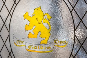 The-Golden-Lion-frosted-window